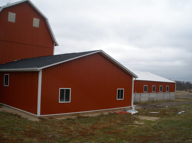 Barn with recently redone roof