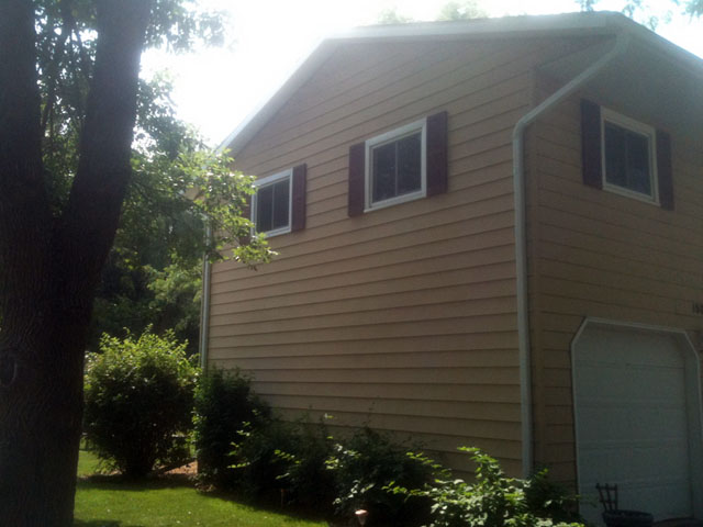 House with recently redone siding
